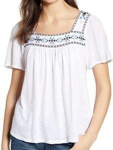 LUCKY Boho Short Sleeve Top Size med